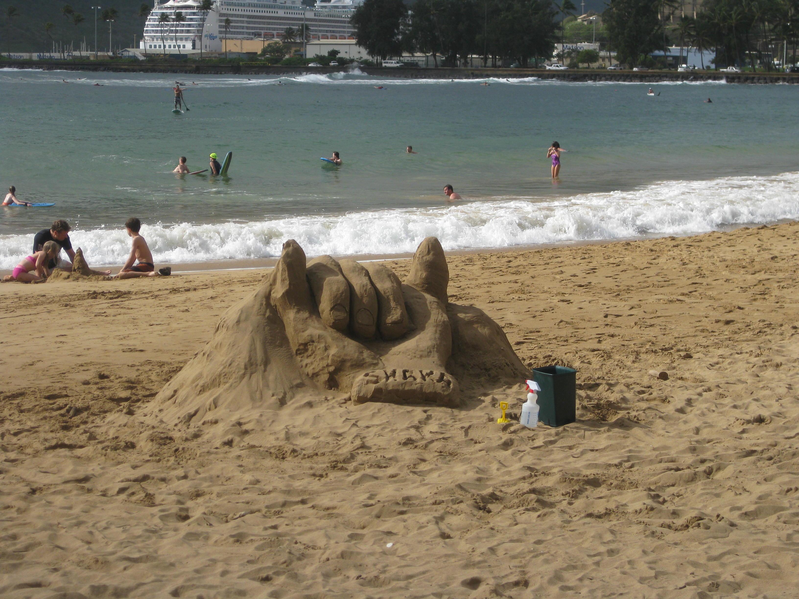 Hang loose sand