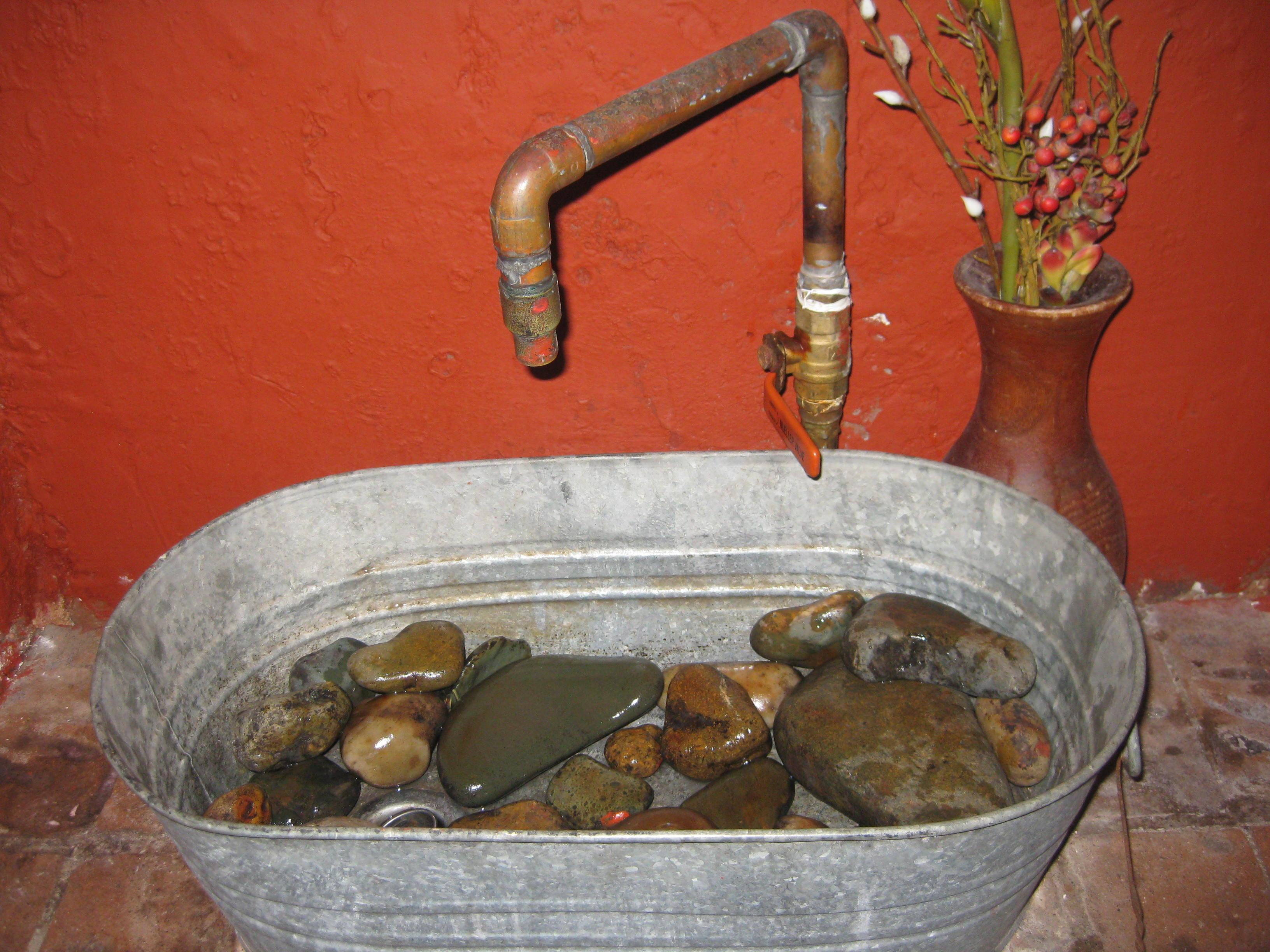 Metal Stone Sink 2