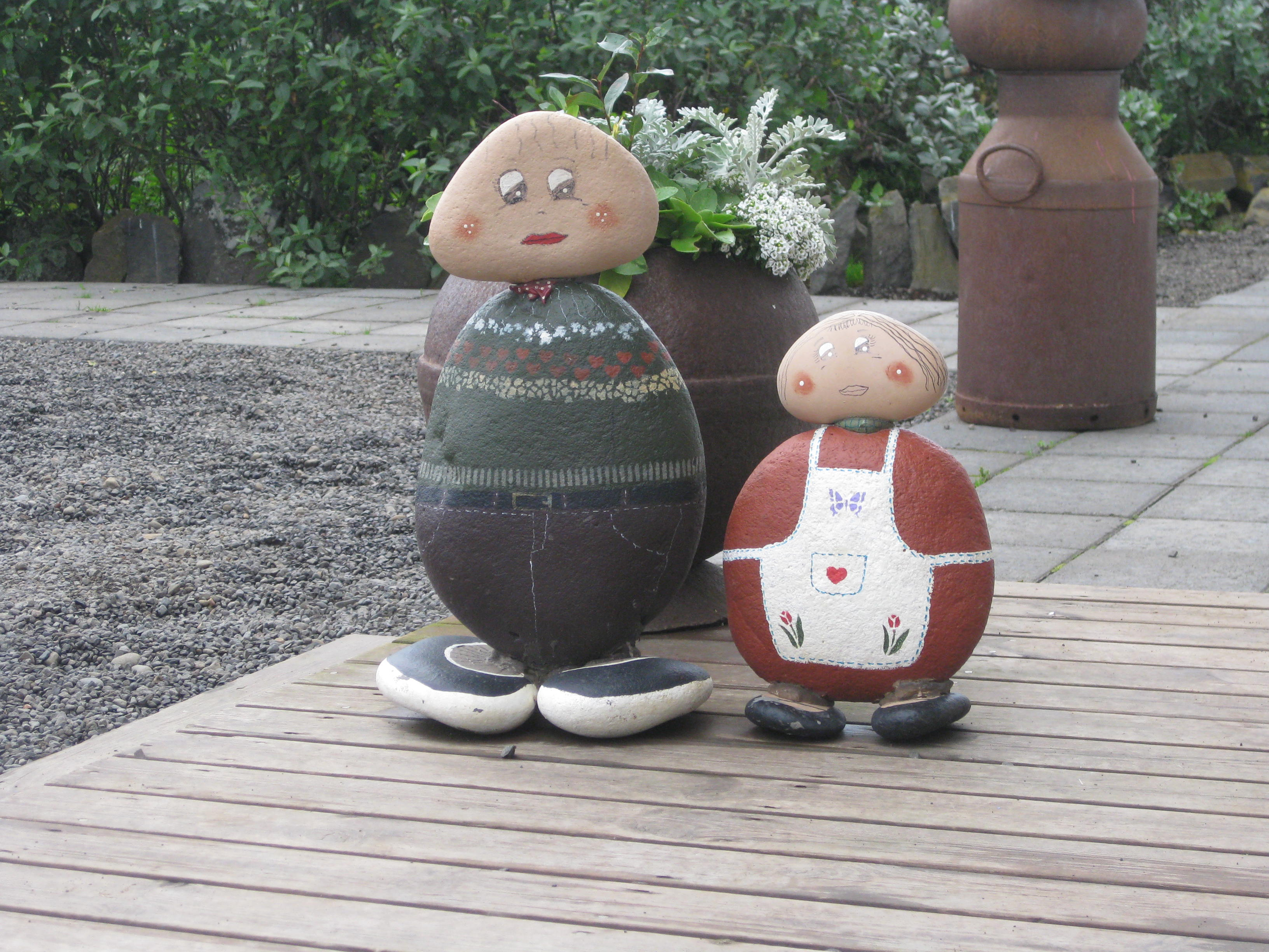 Painted Rock Couple