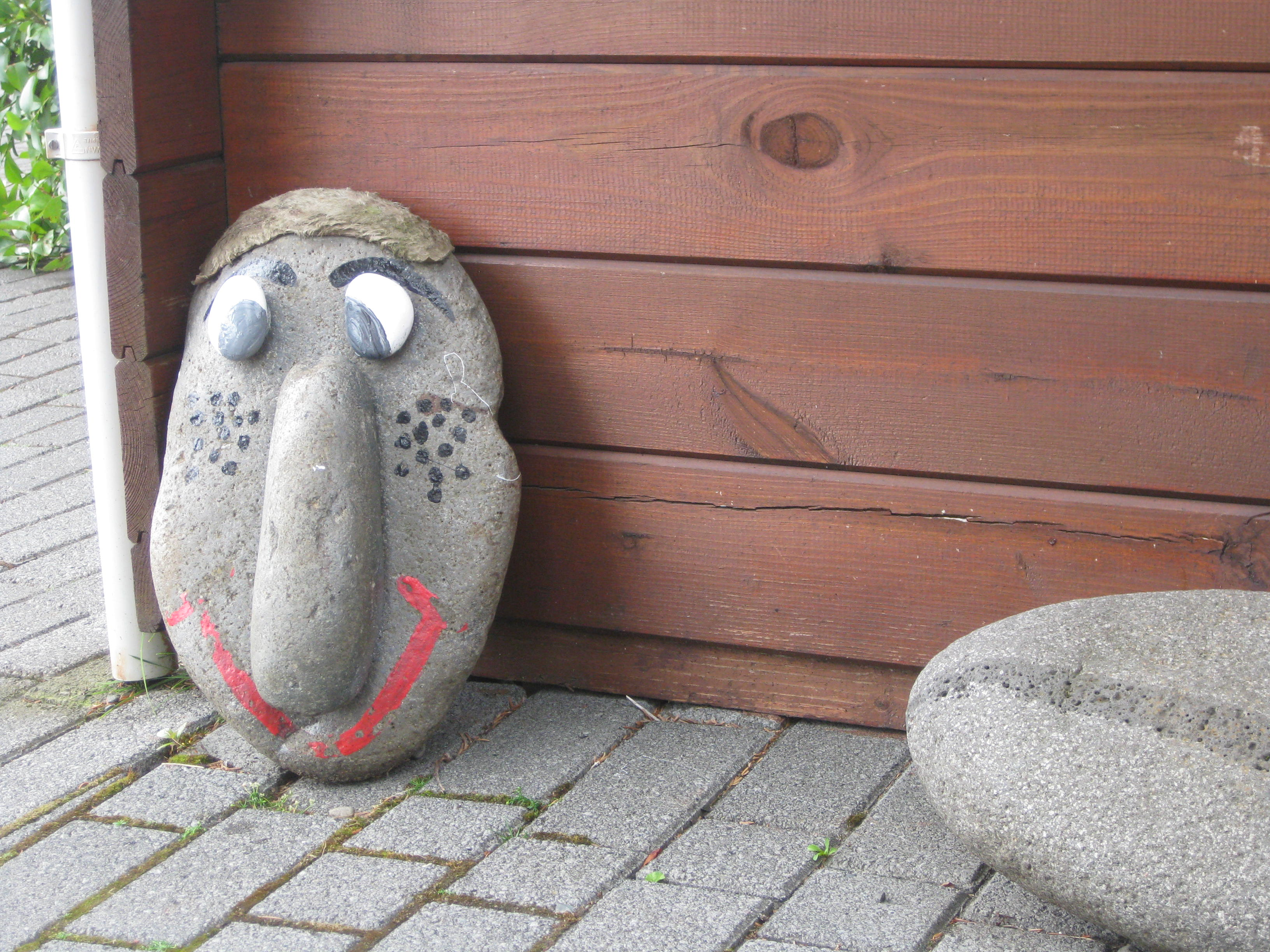 Painted Stone Face
